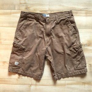 Levi Strauss Khaki Utility Cargo Shorts